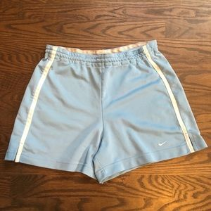 Nike Light Blue Workout Shorts, Small